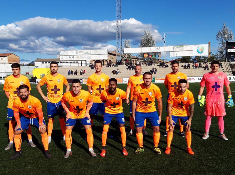 Primer onze inicial de la temporada del Palamós CF. (Foto: Palamós CF).