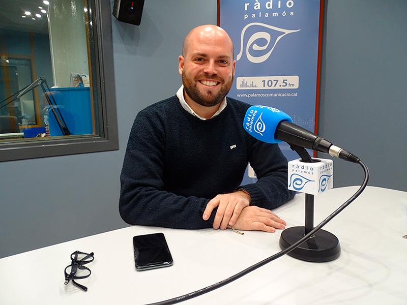 El regidor de JuntsxCat, Raimon Trujillo, la passada setmana als nostres estudis.