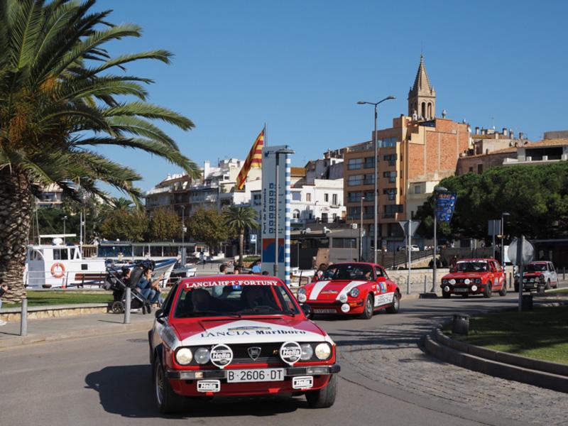 Els guanyadors, dins el Lancia Beta Coupé. (Foto: Ramon Puig - Rally Classics).