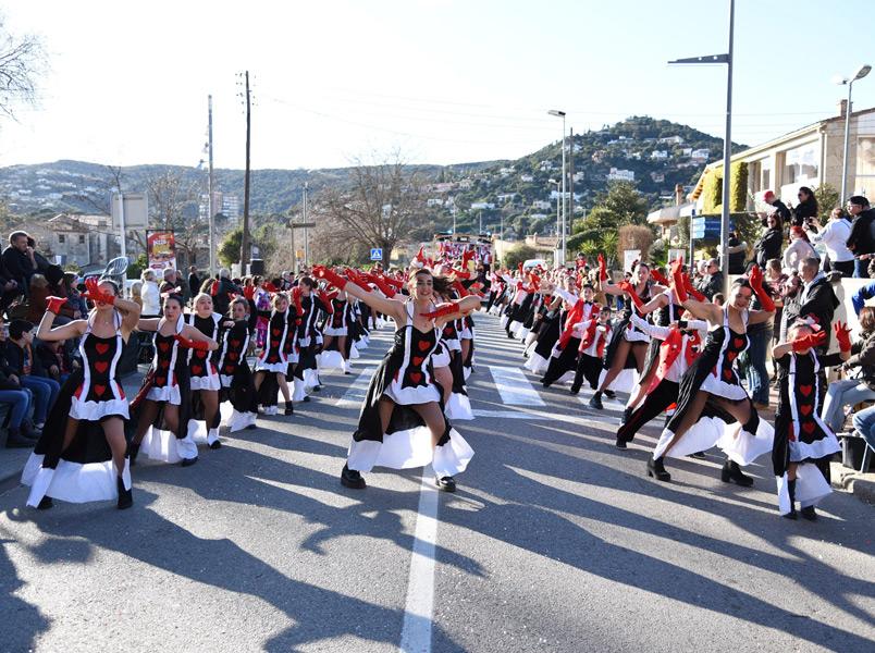 Rua del Carnaval de Calonge d'aquest 2020. (Foto: Ajuntament de Calonge i Sant Antoni).