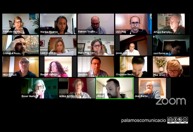 Imatge del Ple telemàtic d'aquest mes d'octubre.