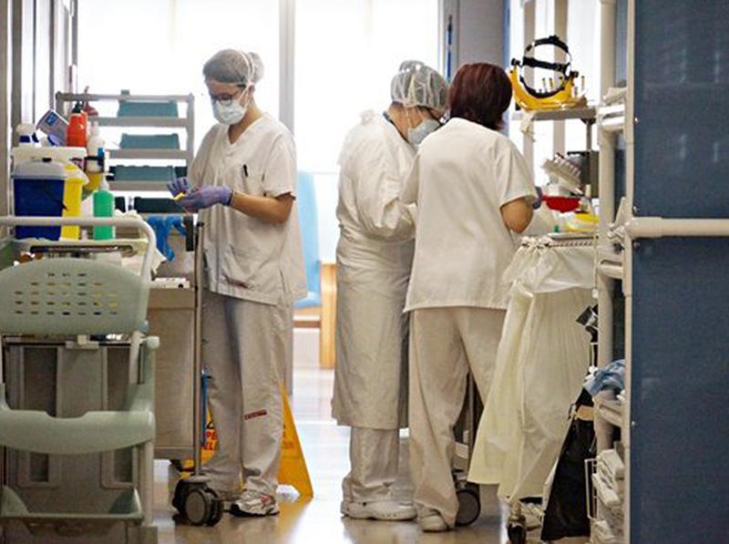 Planta d'hospitalització COVID a l'hospital de Palamós. (Foto: SSIBE).