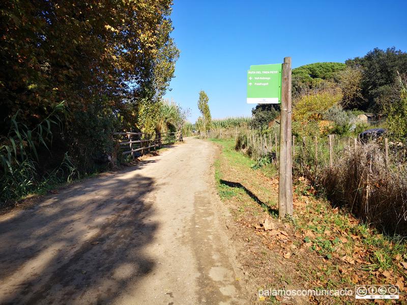 La via verda del Tren Petit uneix els municipis de Palafrugell i Palamós.