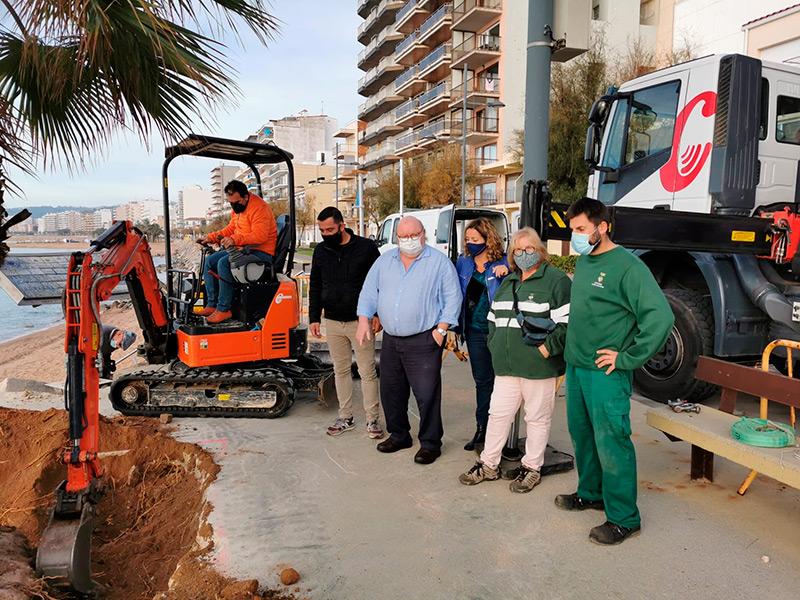 Les obres per reconstruir el mirador del passeig de Sant Antoni van començar la passada setmana. (Foto: Ajuntament de Calonge i Sant Antoni).