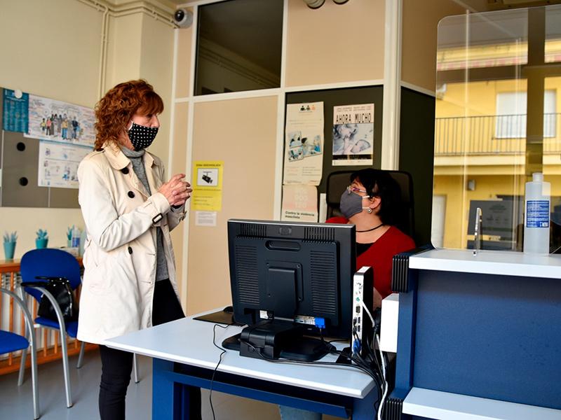 L'oficina de Serveis Socials de Sant Antoni estava tancada des del passat mes de març. (Foto: Ajuntament de Calonge i Sant Antoni).