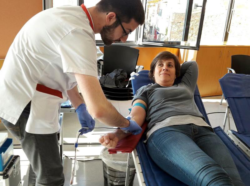 Imatge d'arxiu d'una donació de sang al CAP de Palamós.