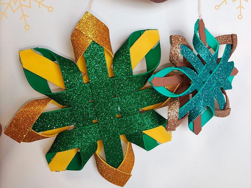 Un dels objectes nadalencs realitzat pels residents de Vimar. (Foto: Fundació Vimar).