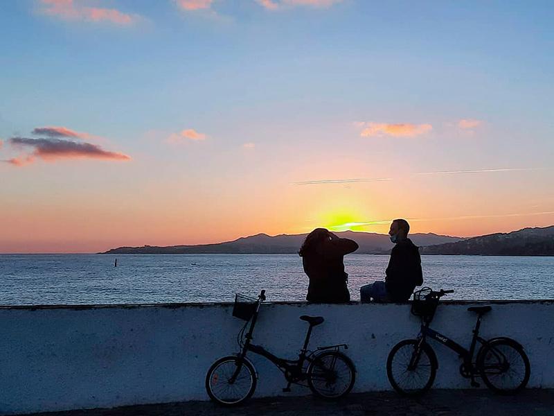 Posta de sol, ahir al Far de Palamós. (Foto: instagram.com/teresaferres64).