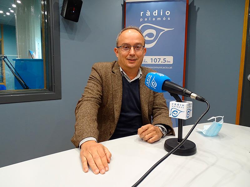 Josep Coll, regidor del PSC a l'Ajuntament de Palamós, avui als nostres estudis.