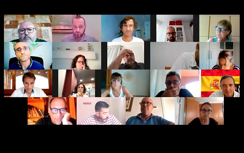 Els regidors i regidores de l'Ajuntament de Calonge i Sant Antoni, en el decurs d'un ple telemàtic.