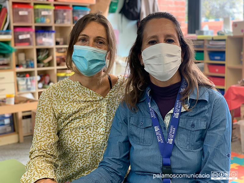 Marta Garcia i Mari Muñoz, de les AMPES de La Sínia i Llevantí de Mar.