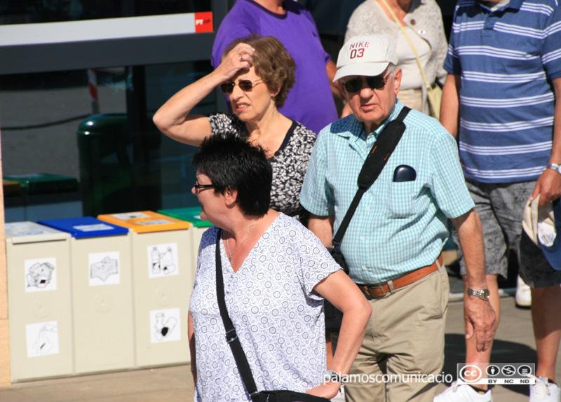 Turistes estrangers a Palamós.
