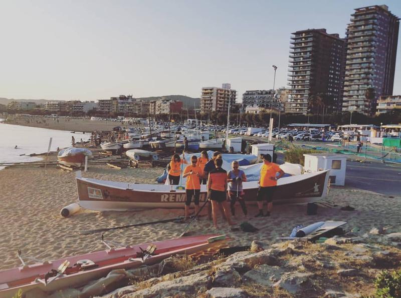 L'activitat s'emmarca en l'estratègia del club de donar-se a conèixer entre la població. (Foto: Club de Rem Palamós).