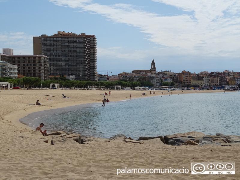 La platja Gran de Palamós, aquest matí.