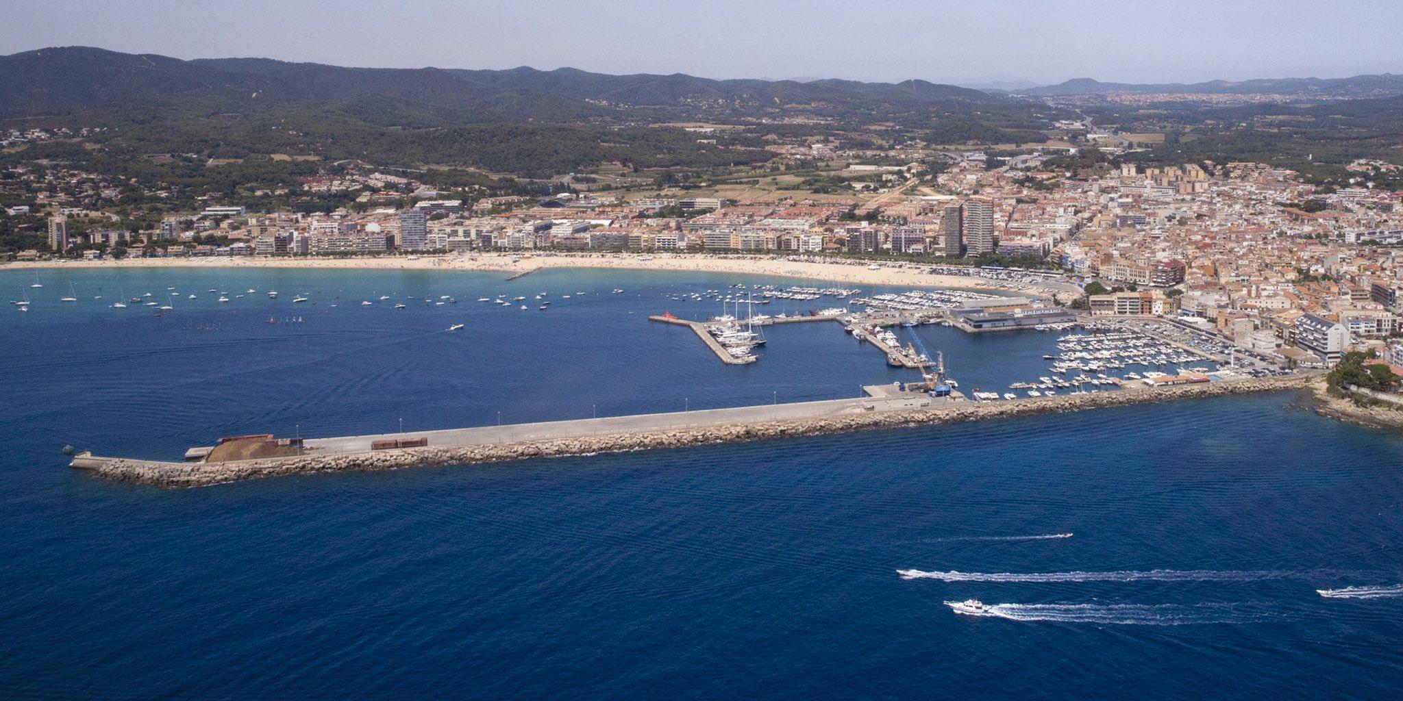 Vista aèria del Port de Palamós. (Foto: Ports de la Generalitat).