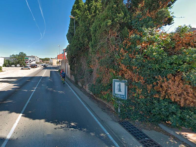 L'actuació afectarà al tram de l'Avinguda de Catalunya entre els carrers de la Gambina i del Fraret. (Foto: Google Maps).