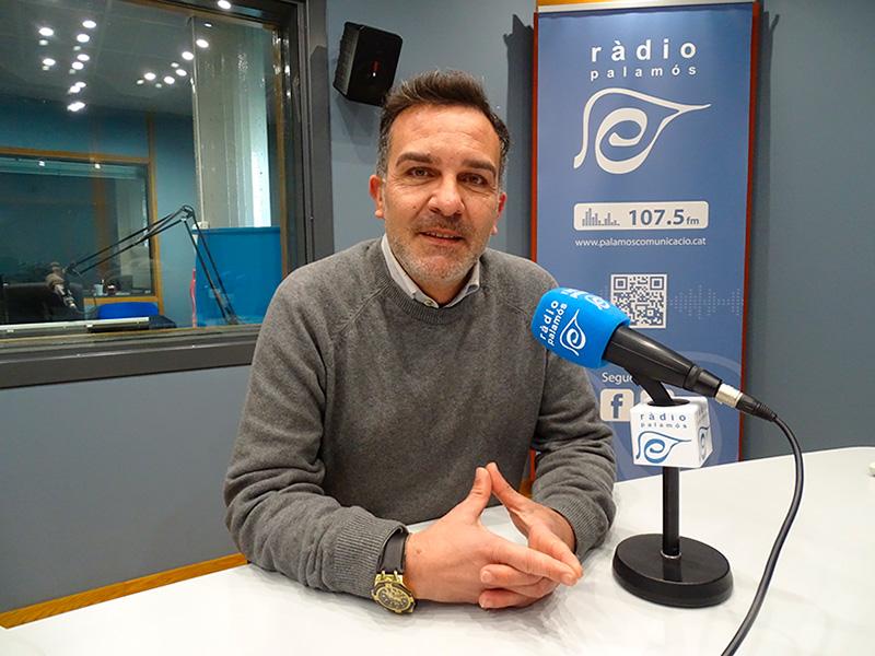 El regidor de C's a l'Ajuntament de Palamós, Cristóbal Posadas, ahir als nostres estudis.
