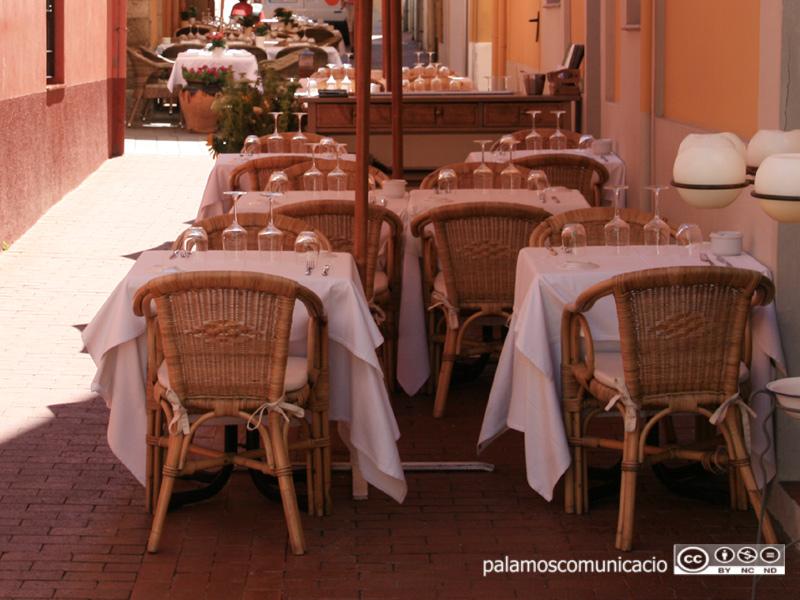 Terrassa d'un restaurant de Palamós.
