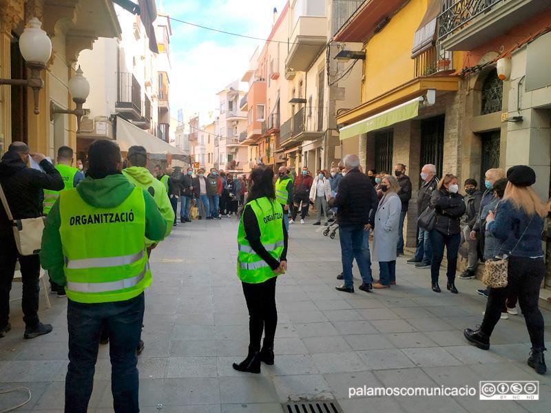 Imatge de la concentració convocada per l'Agrupació d'Hostaleria de Palamós, el passat 1 de febrer.