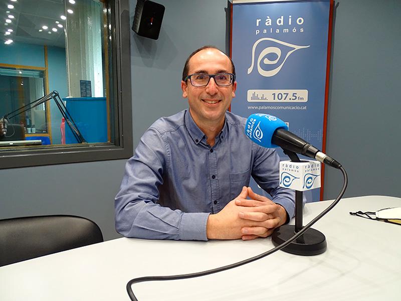 L'alcalde de Palamós, Lluís Puig, en el decurs de l'espai