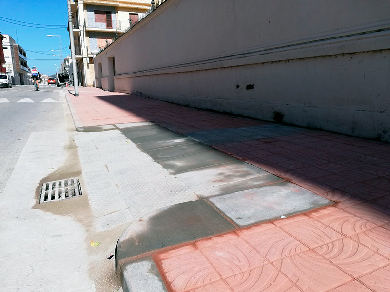 El tram que s'ha arranjat és entre López Puigcerver i President Macià. (Foto: Ajuntament de Palamós).