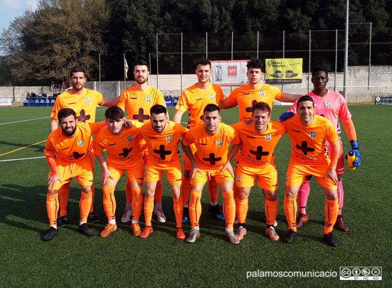 El Palamós ha tornat a la competició amb una victòria al camp del Bescanó. (Foto: Palamós CF).