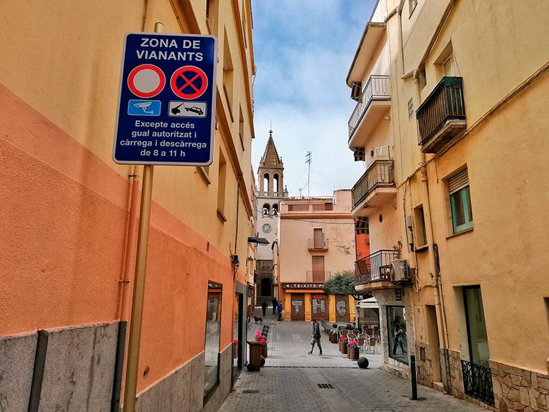 L'accés a la Plaça de la Vila pel carrer Molins. (Foto: Ajuntament de Palamós).