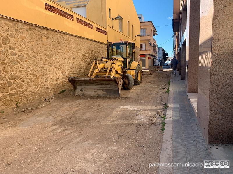 El carrer de la Mercè mirant cap al passeig del Mar, aquest matí.