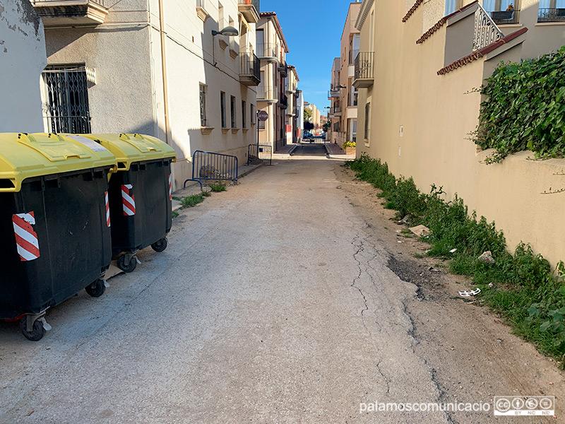 El carrer de la Mercè, en direcció a l'Avinguda de Catalunya, aquest matí.