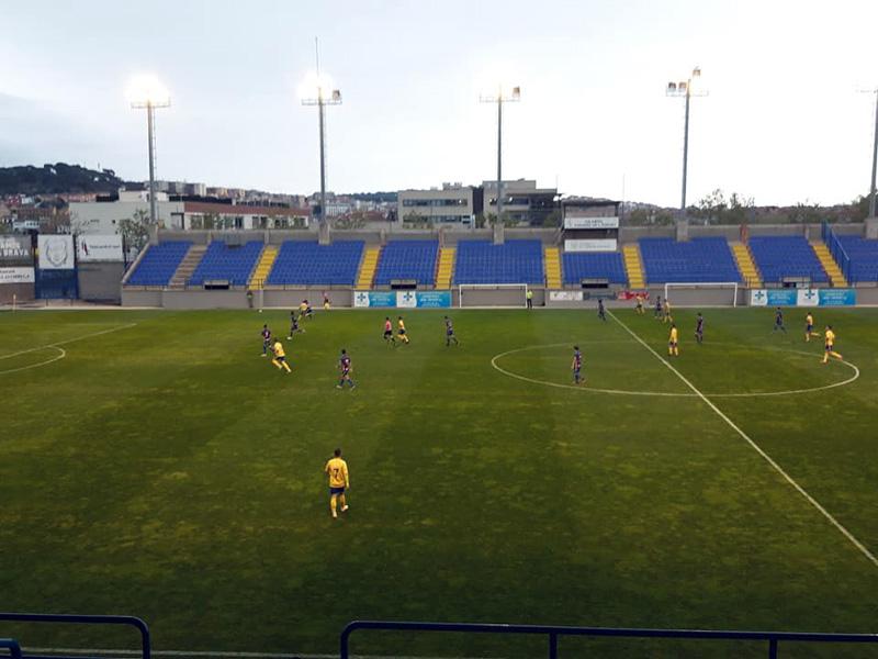 El Palamós va guanyar ahir el Llagostera B a l'Estadi Municipal. (Foto: Palamós CF).
