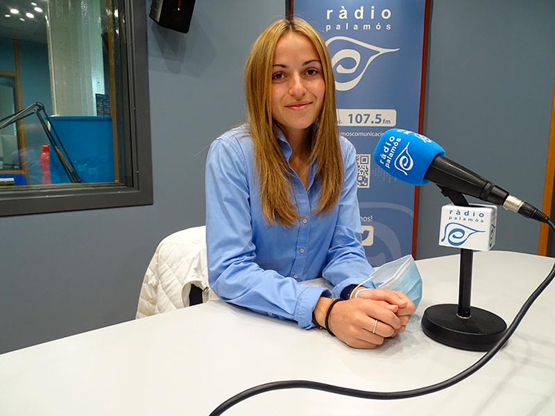 Marta Galló, al programa de Ràdio Palamós 'Temps afegit'.