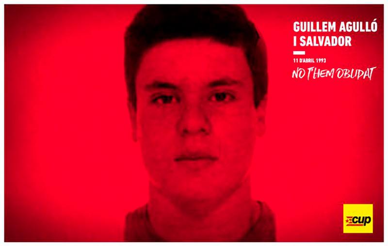 Homenatge a l'activista valencià, Guillem Agulló. (Foto: CUP Països Catalans).