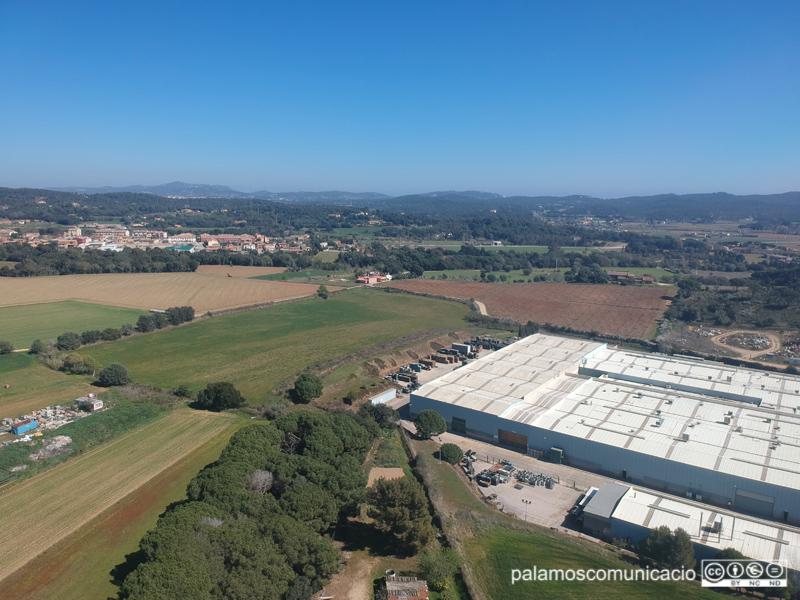 Vista aèria del polígon industrial de la Pietat.