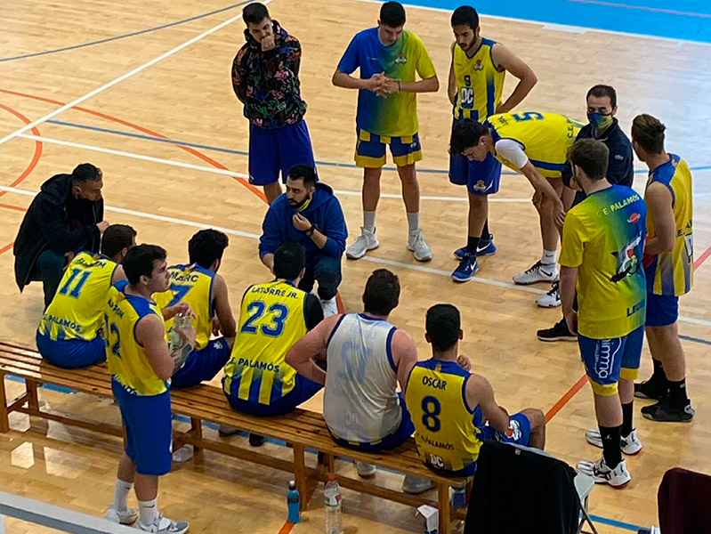 El sènior del Club Esportiu Palamós en el partit de la passada setmana. (Foto: CE Palamós).