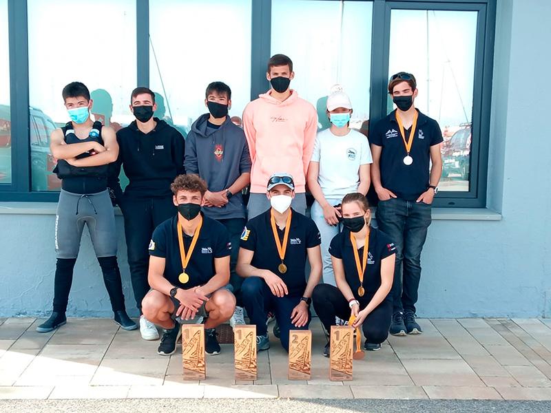 Els regatistes del CN Costa Brava – Vela Palamós al Campionat de Catalunya de la Classe Europa a Blanes.
