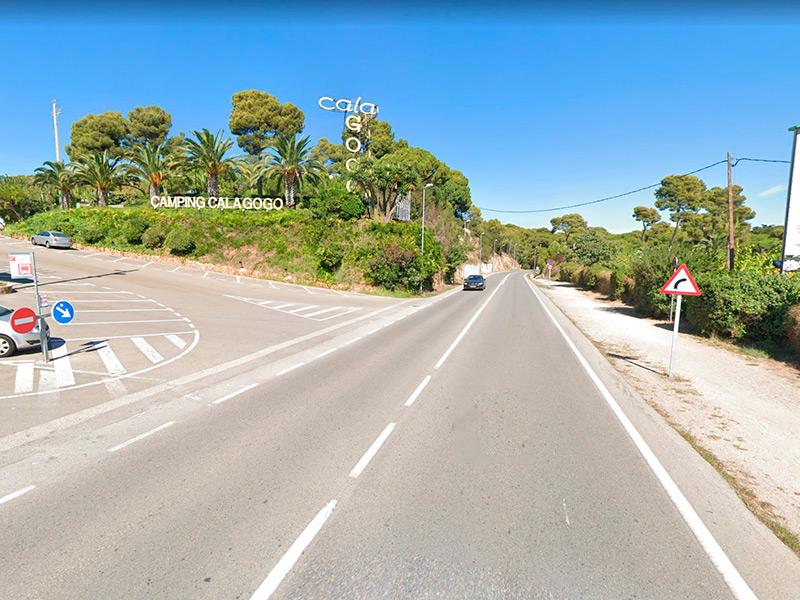 La via verda seguirà el traçat de la carretera C-253. (Foto: Google Maps).