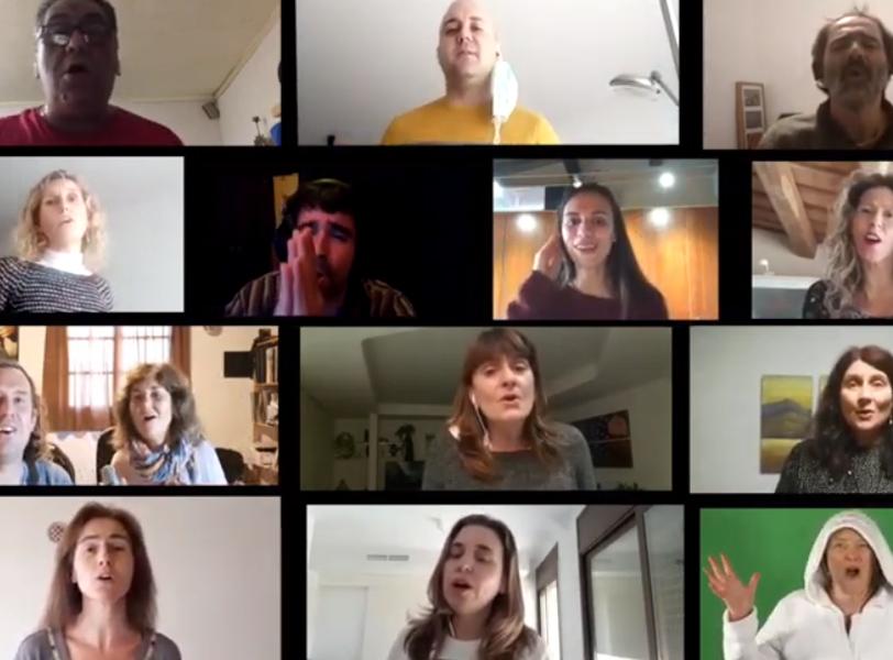 Els integrants de Fusions s'han tornat a gravar des de casa per aquest nou vídeo.