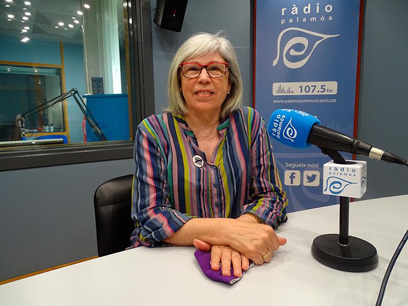 La regidora de la CUP Palamós Vila-romà, Roser Huete, avui als nostres estudis.