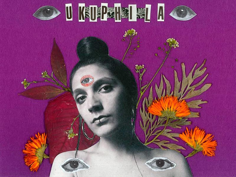 Portada del senzill 'La meva pell' d'Ukuphila realitzada per l'artista Maria Ramírez.