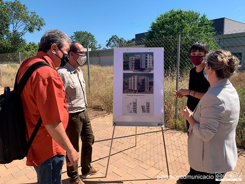 La promoció d'habitatge social cooperatiu es construïrà a l'Avinguda de Catalunya, a tocar del supermercat LIDL.
