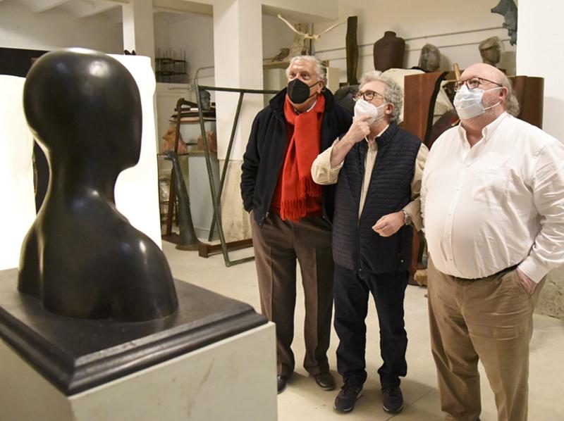 Les escultures de Xavier Medina protagonitzen l'altra exposició al Castell de Calonge. (Foto: Ajuntament de Calonge i Sant Antoni).