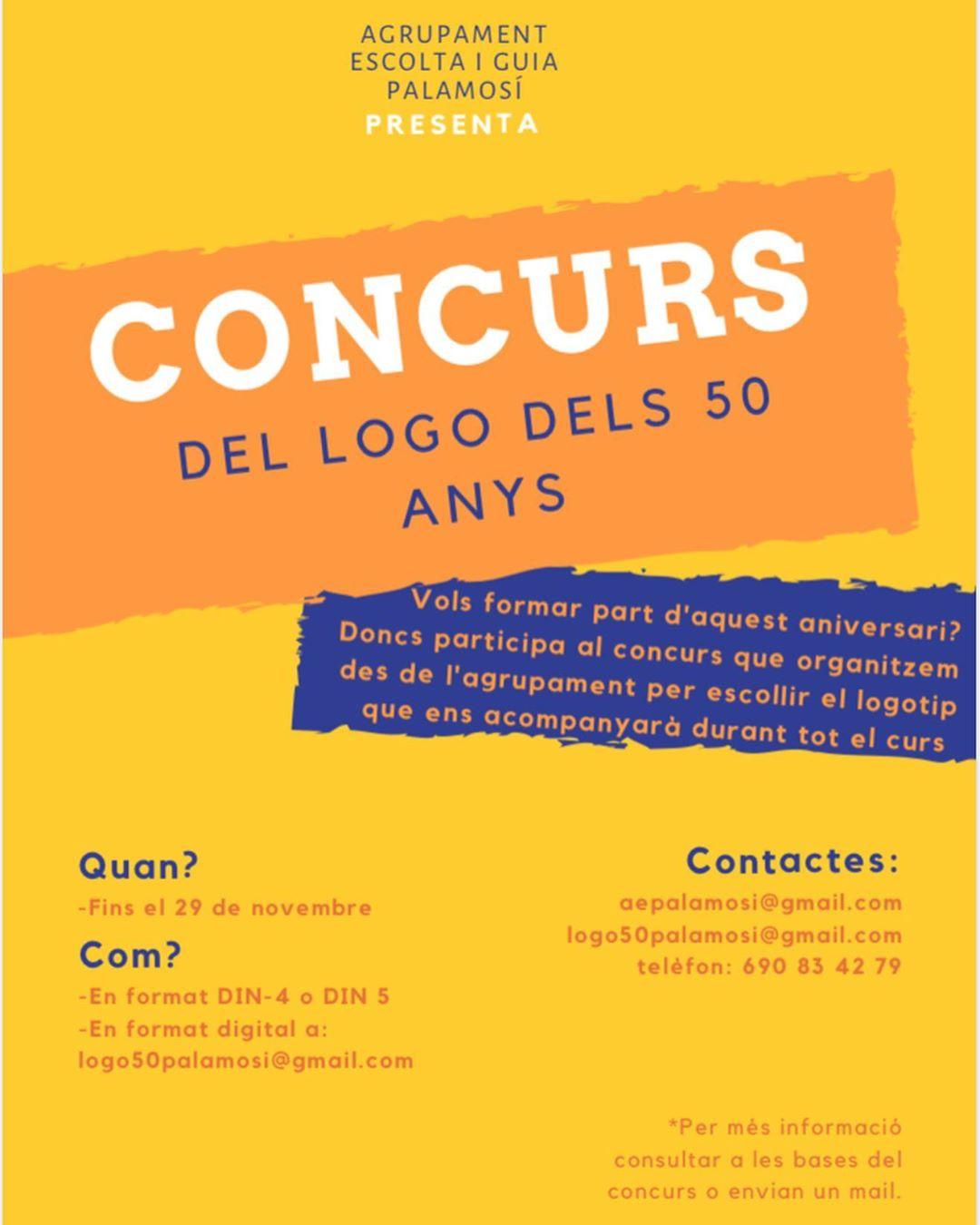 Cartell del concurs per al nou logotip de l'AEIG Palamosí.