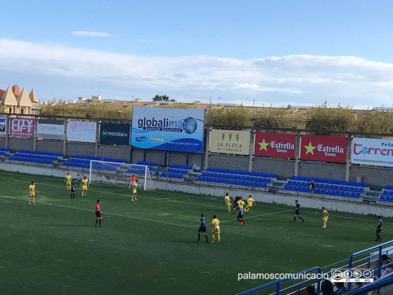 El Palamós CF deixa escapar 2 punts en temps afegit davant l'Argetona (1-1)