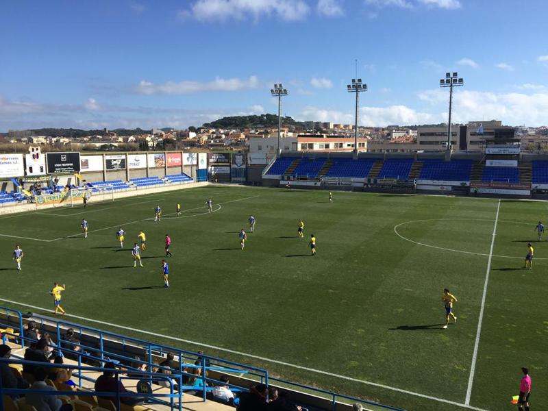El Palamós CF ha sumat tres punts davant el Banyoles (foto:Ramon Ribas)