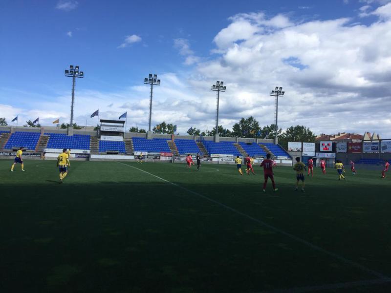 El Palamós no ha pogut sumar cap punt en el darrer partit de la temporada a casa (Foto: Ramon Ribas).