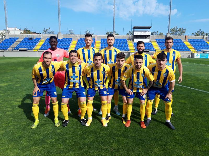Onze inicial del Palamós CF en el partit disputat davant el Llagostera B (Foto: Palamós CF).