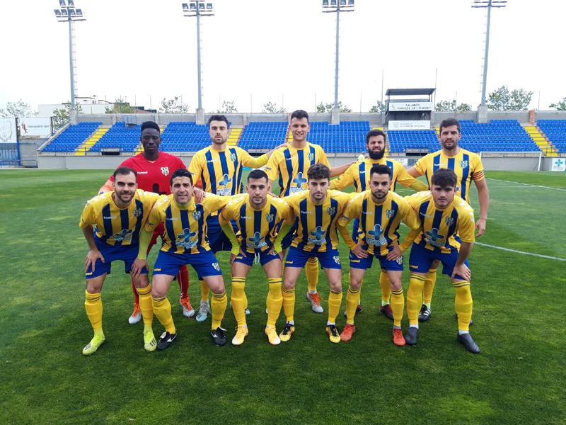 Onze inicial del Palamós CF en el partit disputat davant el Manlleu (Foto: Palamós CF).