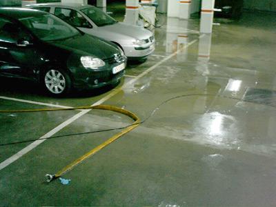 Inundacions en un aparcament de Palamós, el passat mes de setembre