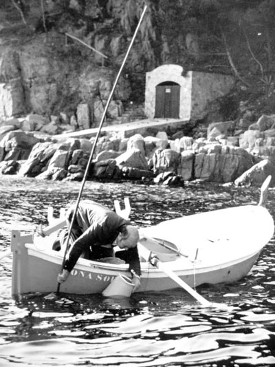 Pesca artesanal de la garoina al Baix Empordà, als anys 70