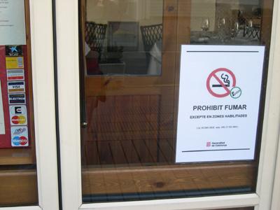 Un establiment del Grup Costa Brava Centre on no es pot fumar